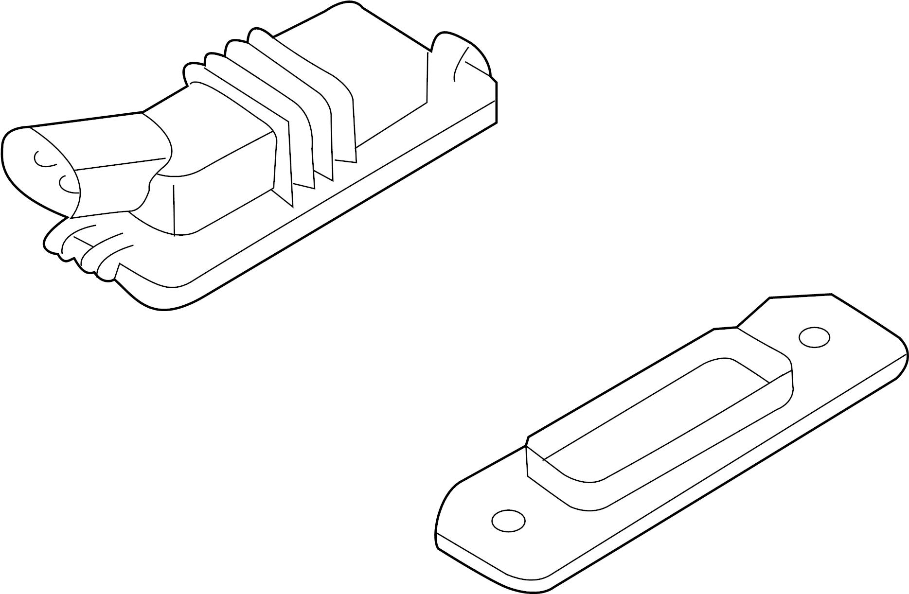 Volkswagen Phaeton Light License Lamp Plate Assembly Base Pull Pocket 11
