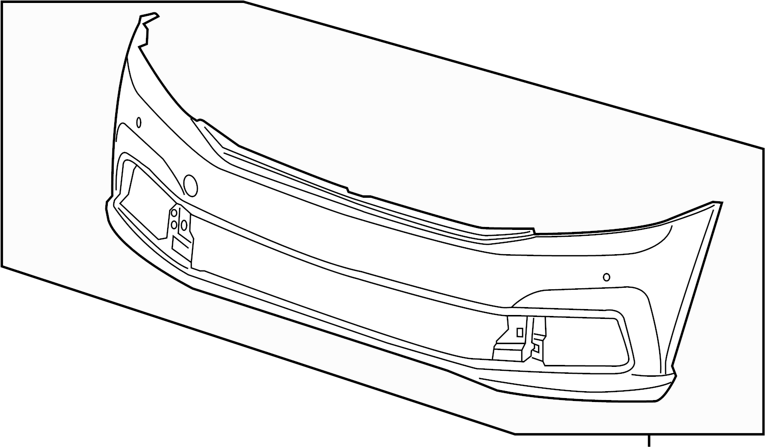Volkswagen Passat Bumper Cover. 2016-19, COVER AND TRIM