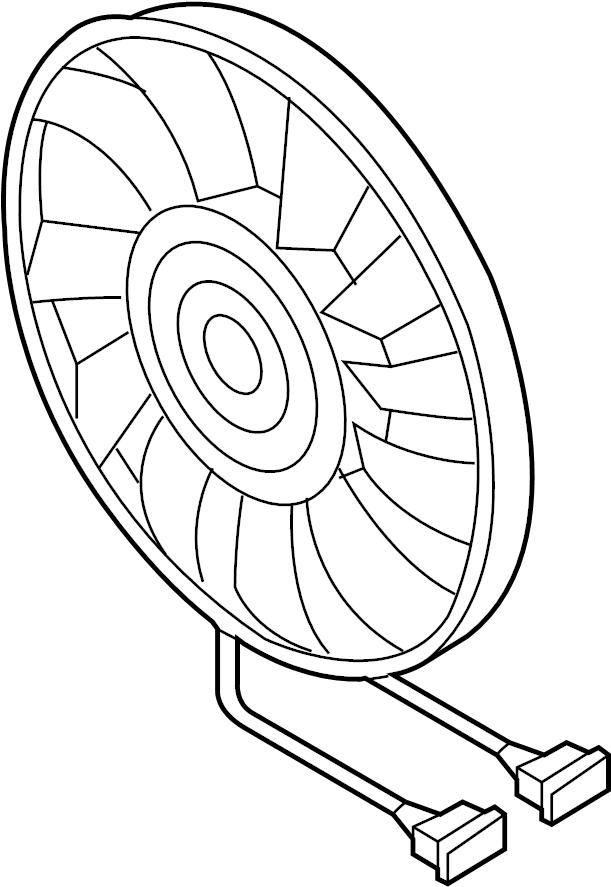 2012 Volkswagen Jetta S Sedan 2.0L M/T Engine Cooling Fan