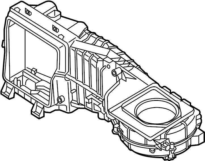 Volkswagen Passat Case. Evaporator. AC AND heater. AIR
