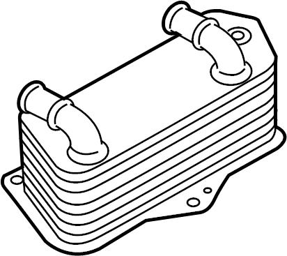 2014 Volkswagen Passat Oil cooler. Trans cooler. Audi