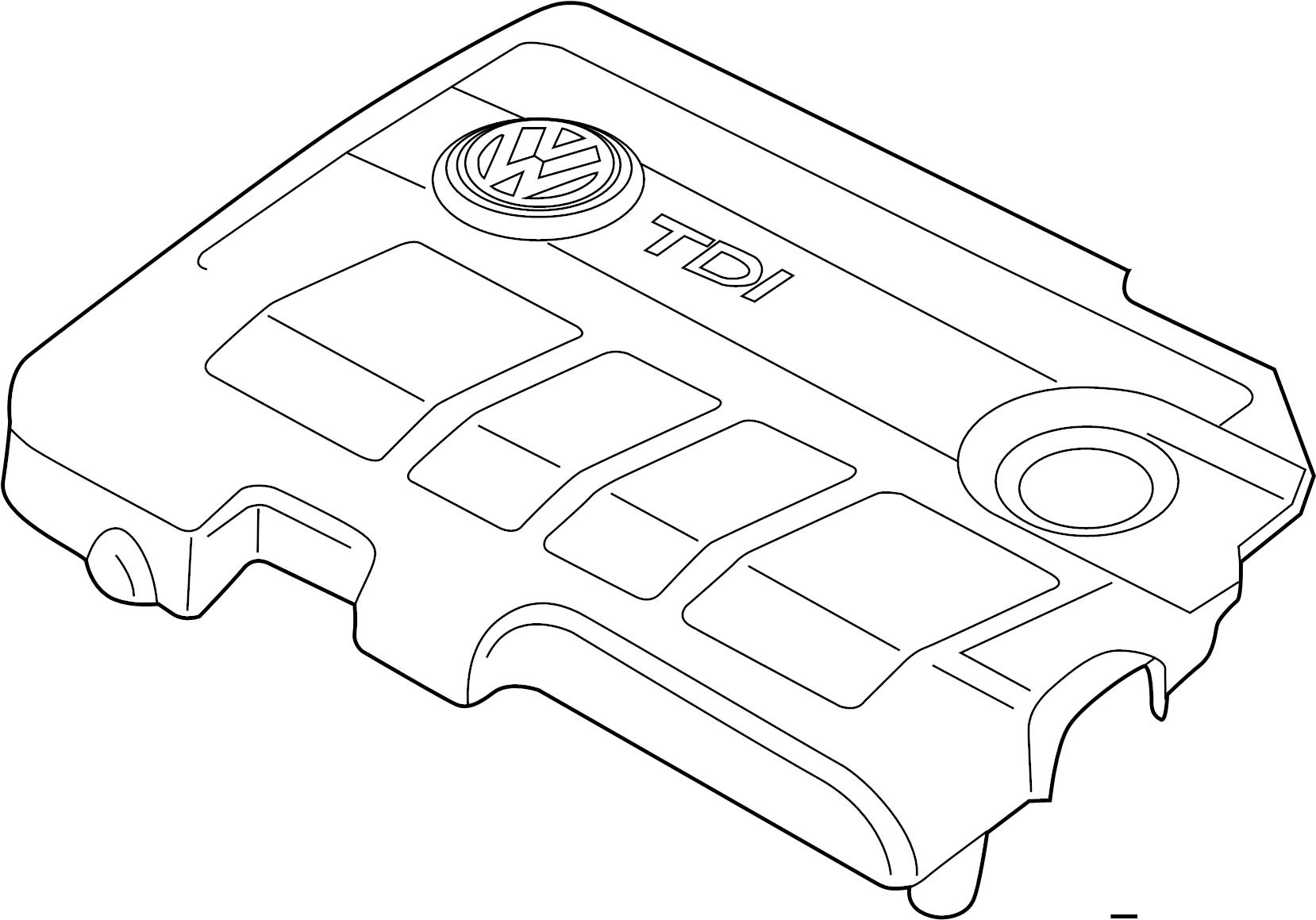 2013 Volkswagen Passat Engine cover. 2.0 LITER DIESEL 2012