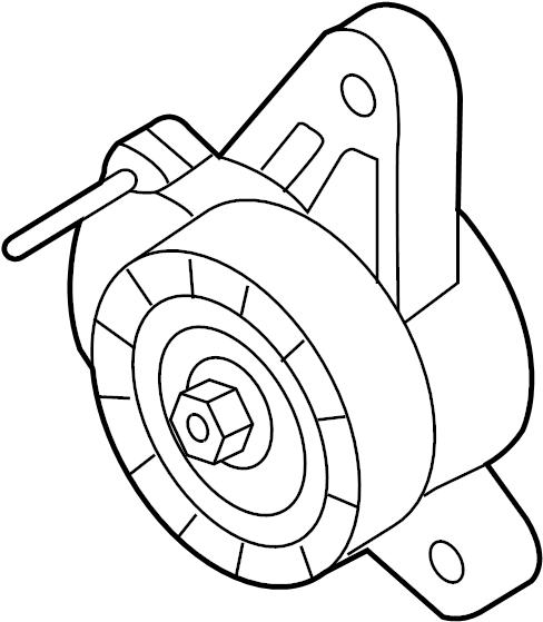 2015 Volkswagen Golf Accessory Drive Belt Tensioner