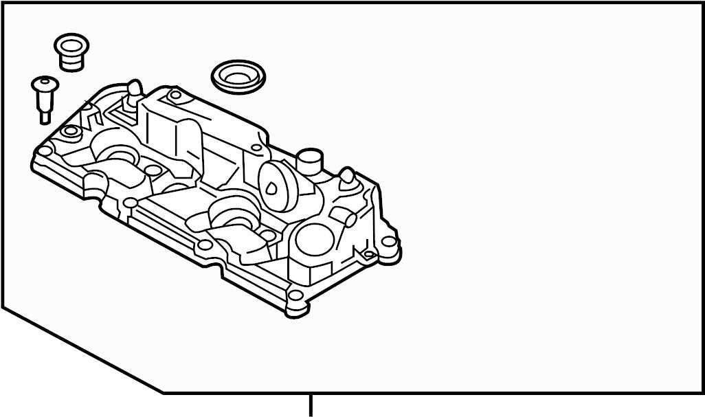 Volkswagen Jetta Engine Valve Cover. DIESEL, LITER