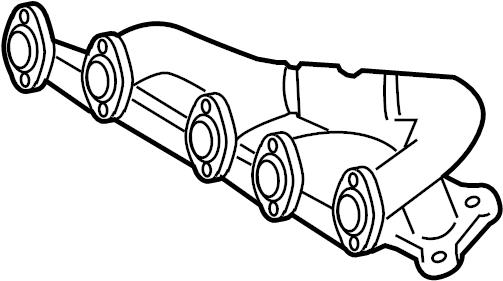 Volkswagen EuroVan Exhaust manifold. 2.5 liter, 5 cylinder