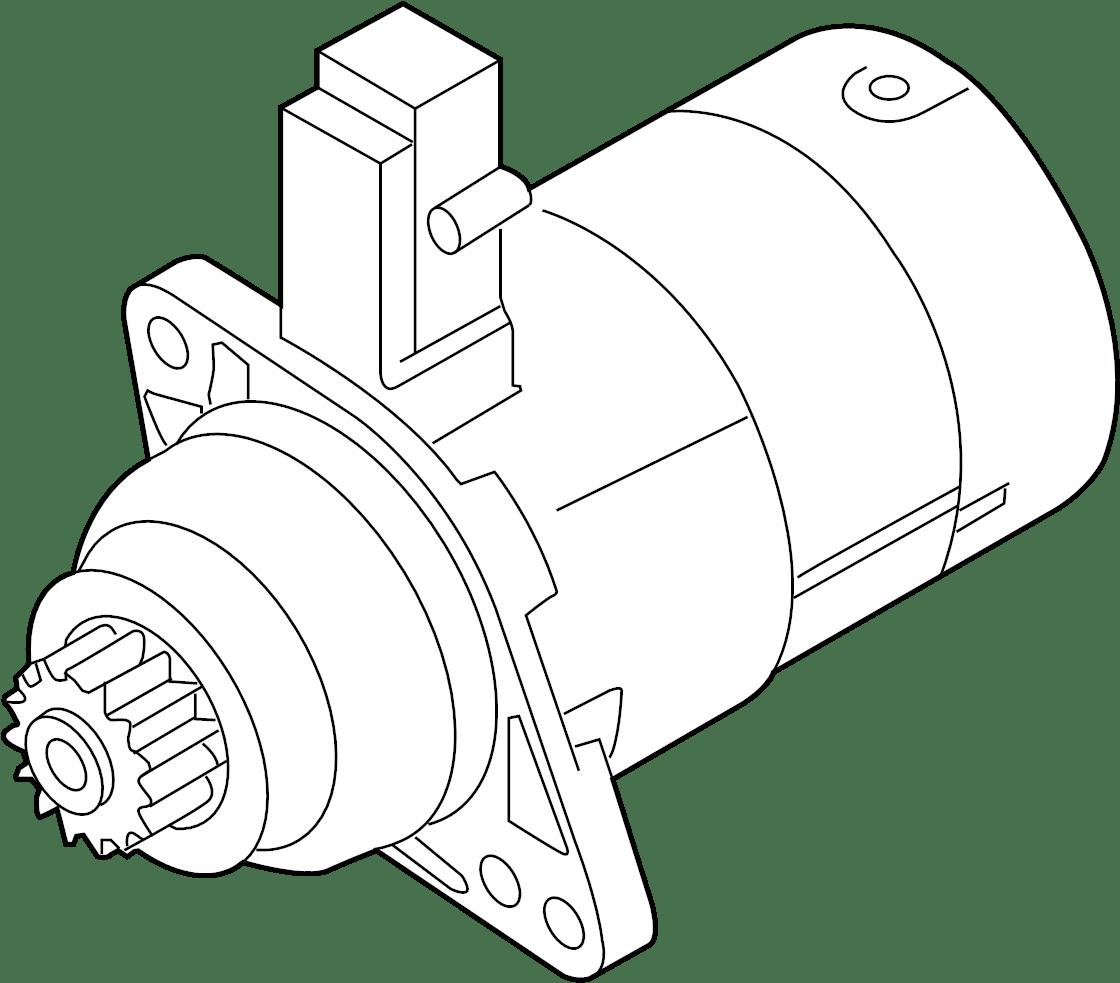 2015 Volkswagen Passat Starter Motor. Trans, Manual, LITER