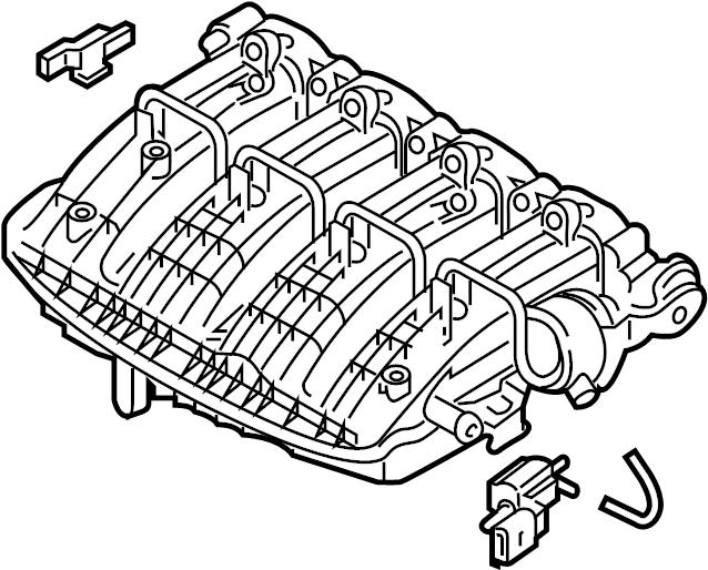 2015 Volkswagen Passat SE 1.8L PZEV M/T Engine Intake