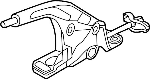 2016 Volkswagen GTI SE Hatchback 2.0L M/T Lever ASSEMBLY