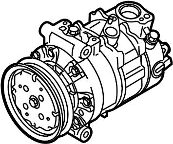 2017 Volkswagen GTI A/c compressor. Denso, liter, repair