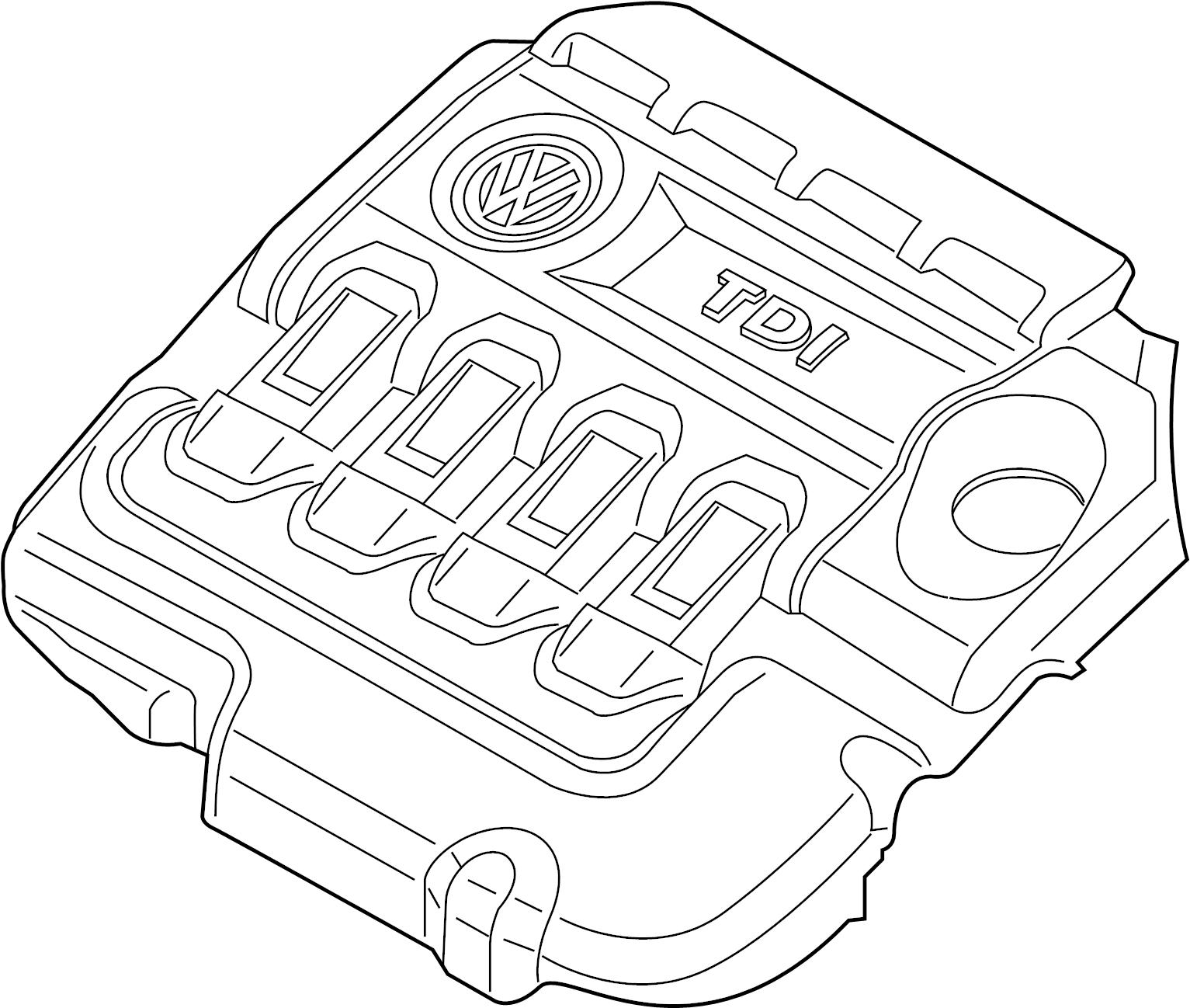 2015 Volkswagen Beetle Convertible Engine cover. 2.0 LITER