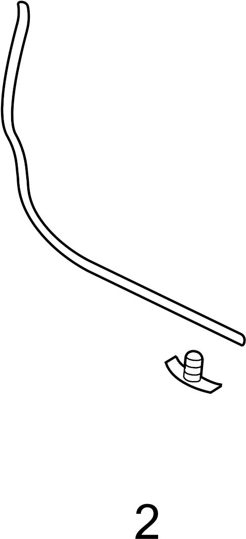 2011 Volkswagen Jetta Clip. Weatherstrip. Door. (Rear