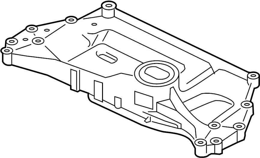 2007 Volkswagen Eos Suspension. Subframe. Crossmember. C