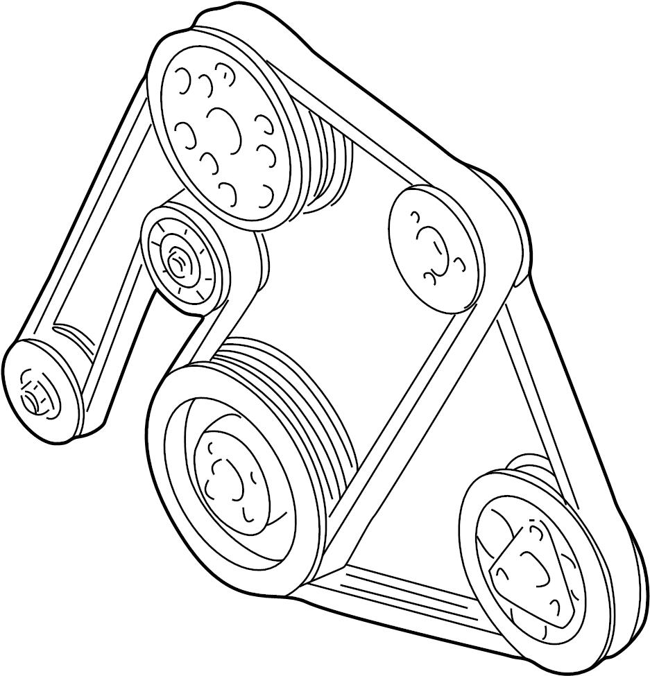 2003 Volkswagen Doublebelt. Serpentine belt. 2.8 liter. 3
