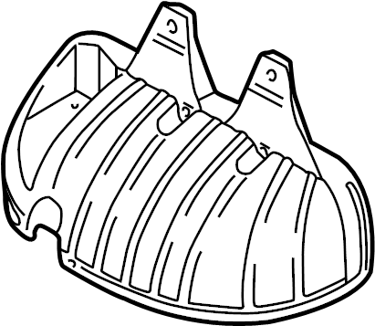 Volkswagen Jetta Exhaust Manifold Heat Shield. LITER