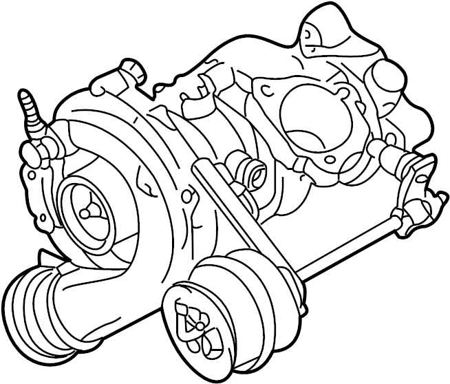 2004 Volkswagen Jetta GLI Turbocharger. From chassis/vin