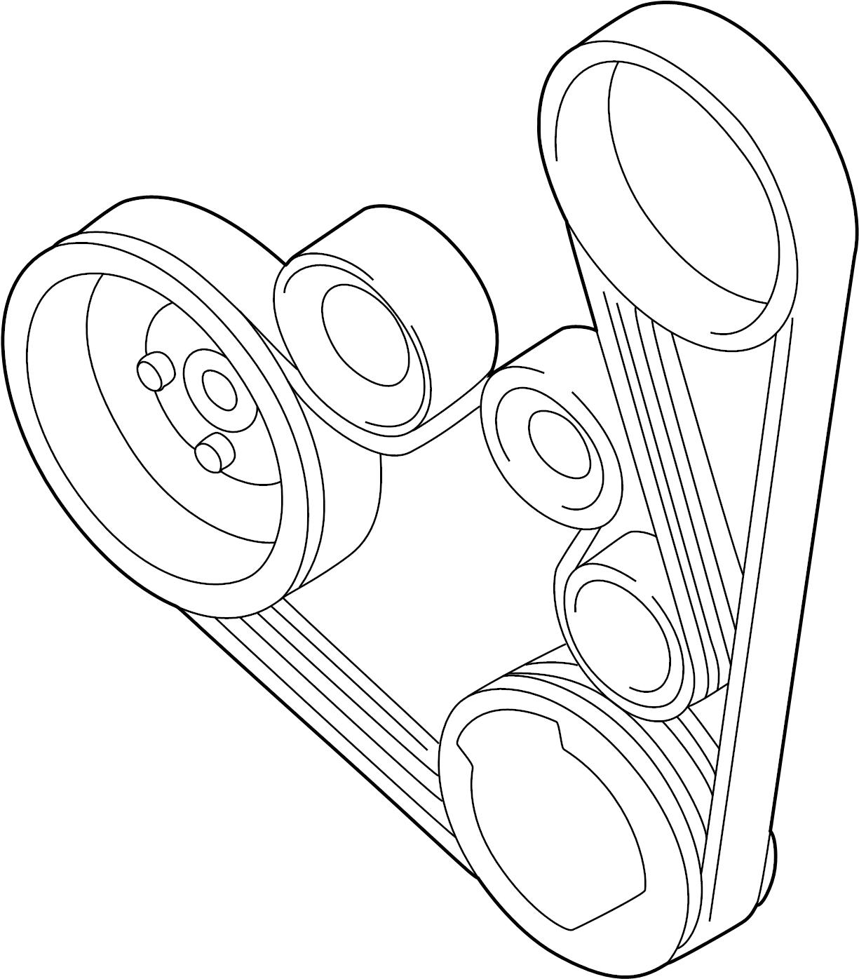 Volkswagen Beetle Convertible Alternator belt. RIBBEDBELT