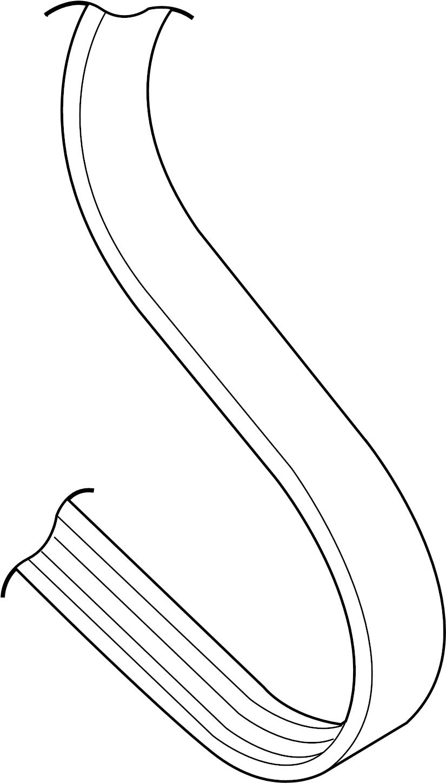1999 Volkswagen Jetta GL Sedan 2.0L M/T Serpentine Belt