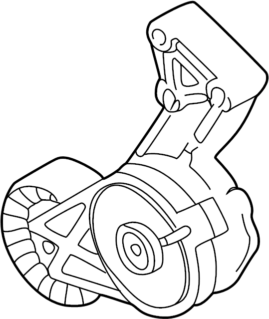 2003 Volkswagen Beetle Accessory Drive Belt Tensioner