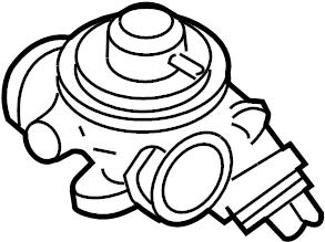 2002 Volkswagen Beetle Egr valve. Emission, liter, diesel