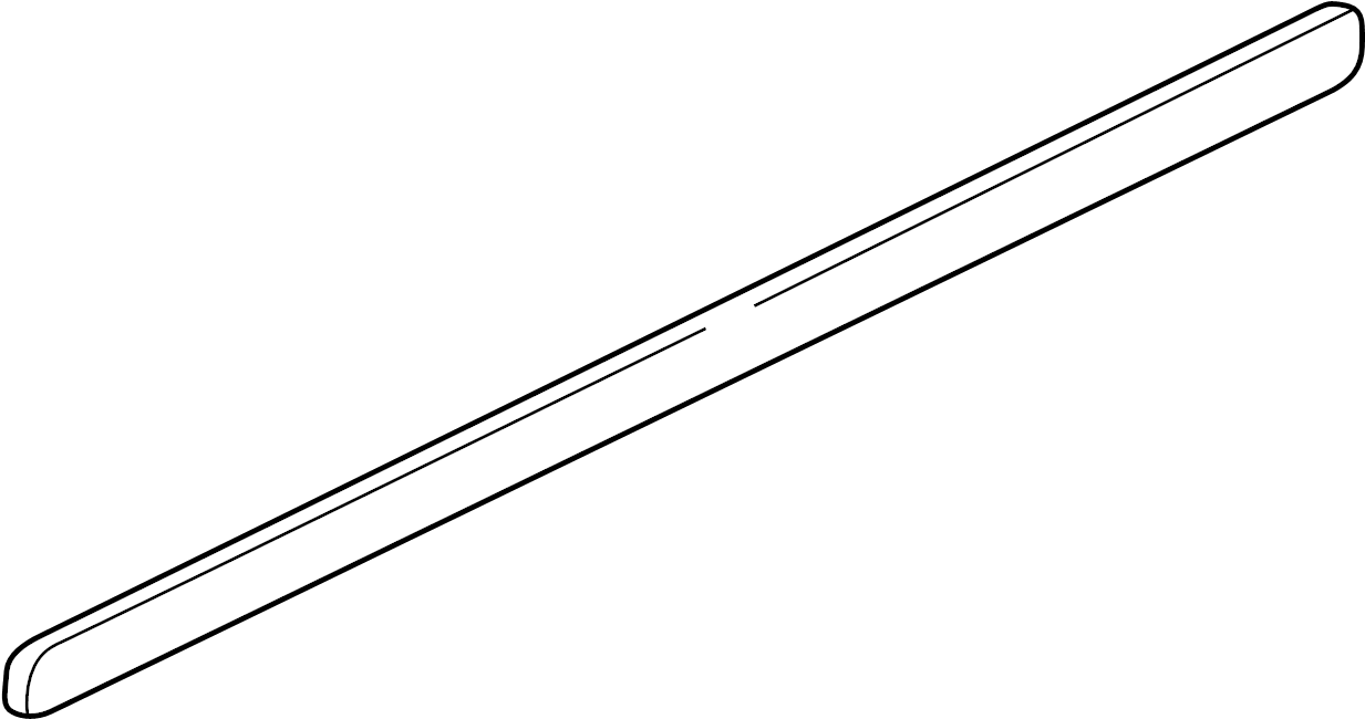 Volkswagen Jetta Door Molding (Lower). W/chrome insert