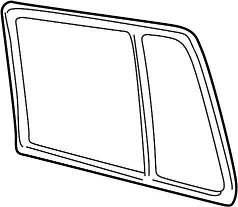 Volkswagen Jetta Door Glass Seal (Upper). SEDAN. WAGON