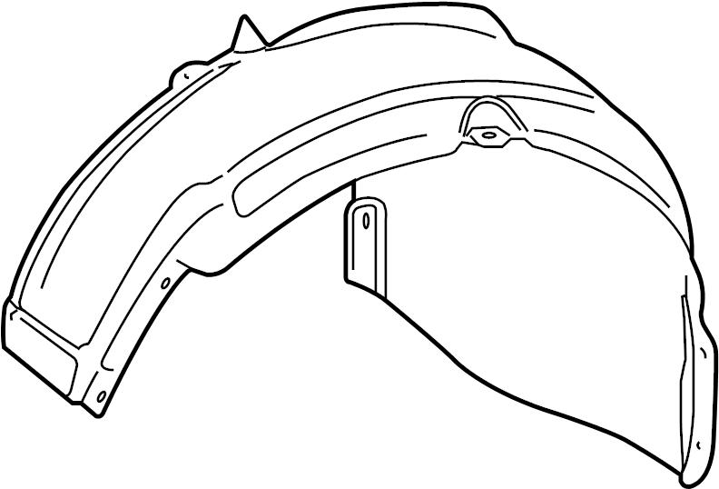 2009 Volkswagen Jetta Fender Splash Shield (Rear). Sedan