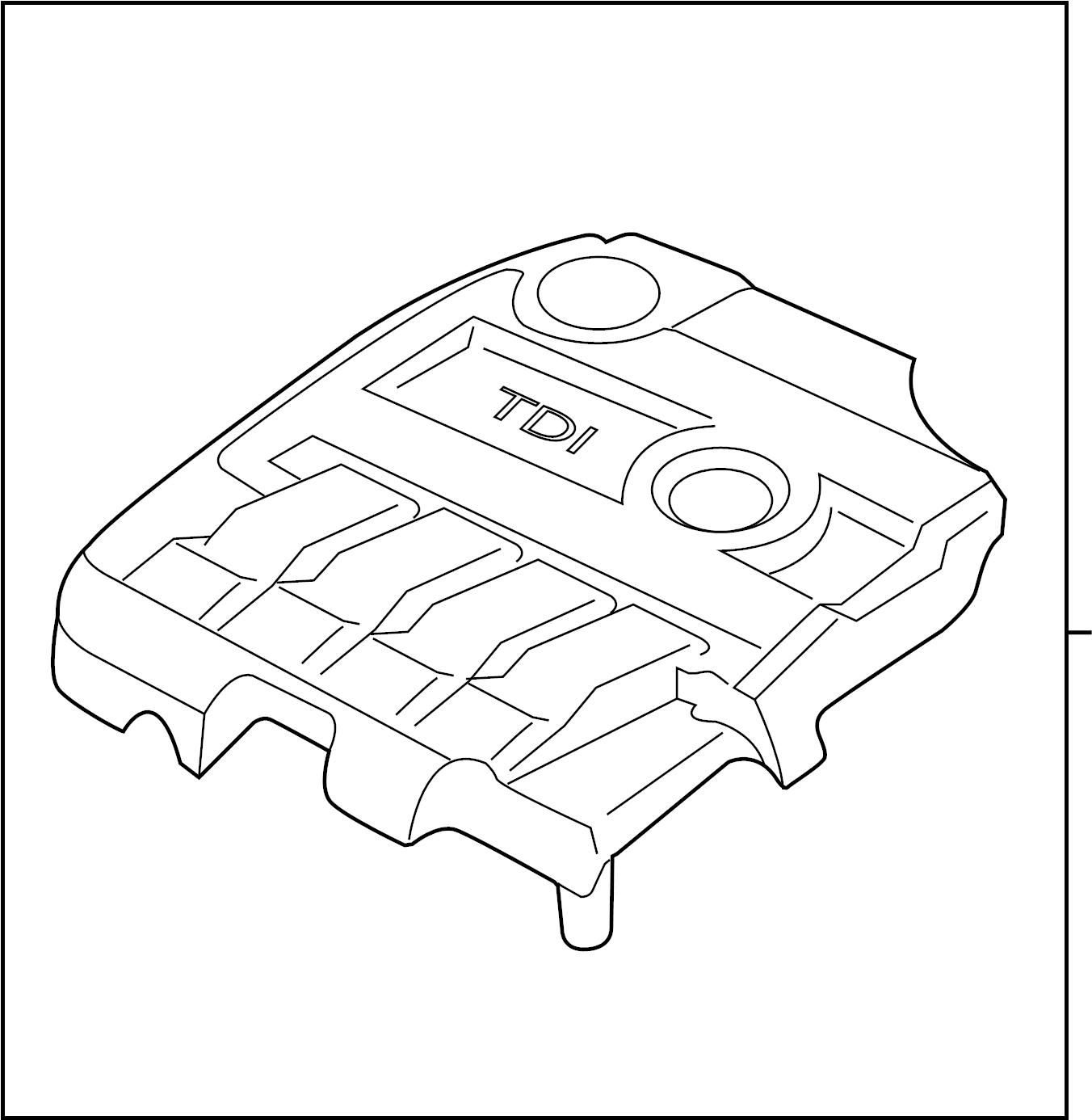 2013 Volkswagen Jetta GLI Engine cover. Manifold cover