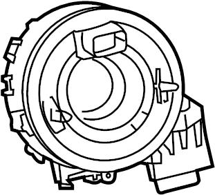 2010 Volkswagen Tiguan Clockspring. Air, bag, steering