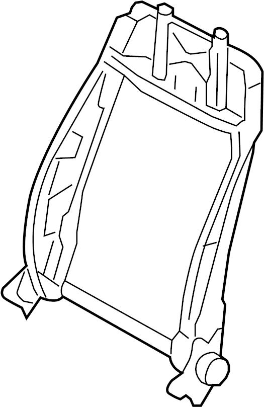 2007 Volkswagen GTI Seat Back Frame (Upper). SEAT BACK