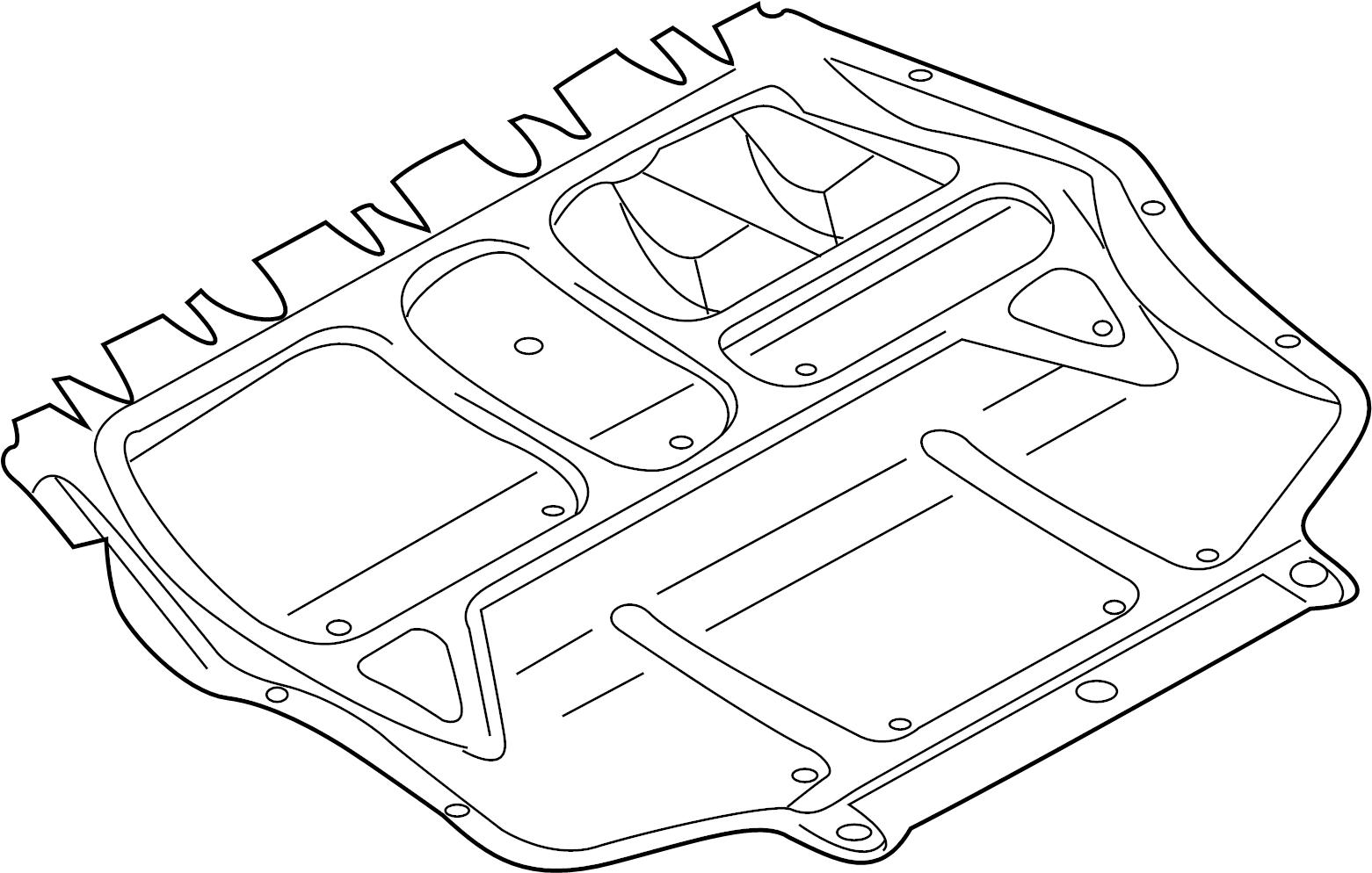 2011 Volkswagen Golf Baffle. Splash shield. Audi
