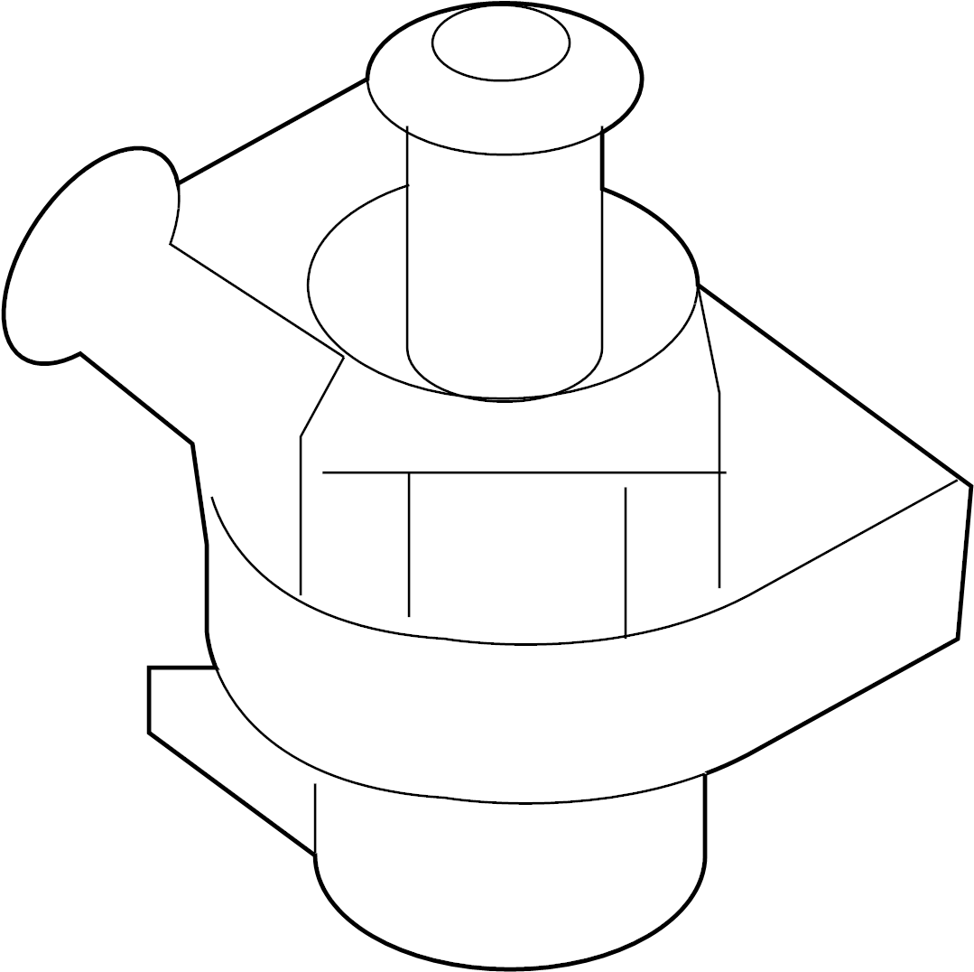 2010 Volkswagen Jetta Engine Auxiliary Water Pump. Temic