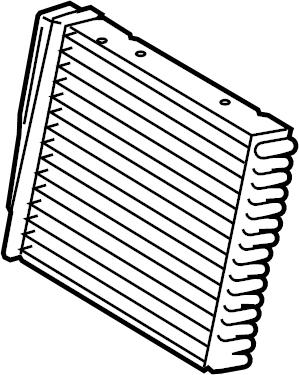 Volkswagen Tiguan Hvac heater core. Heatercore