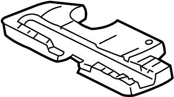 2008 Volkswagen Battery. Cover. Heat. Deflector. 2.0 LITER