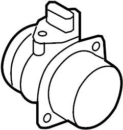 2011 Volkswagen Tiguan Mass Air Flow Sensor. Air Meter