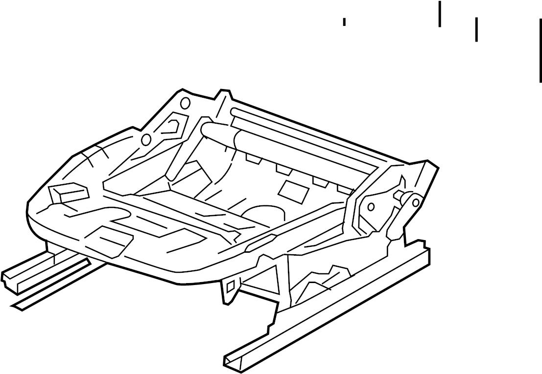 2008 Volkswagen Rabbit Seat Frame (Lower). COMPONENTS