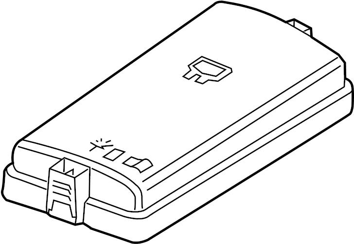 Volkswagen e-Golf Fuse Box Cover (Upper). ENGINE