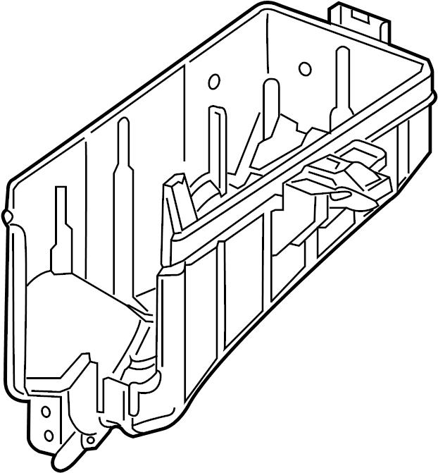 Volkswagen e-Golf Fuse Box Cover (Lower). Engine