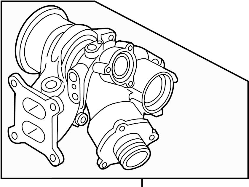 Volkswagen GTI Exhaust Manifold. EXMANTURBO. TURBOCHARGER