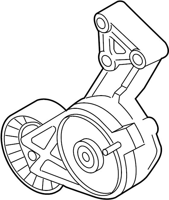 2013 Volkswagen Jetta Accessory Drive Belt Tensioner