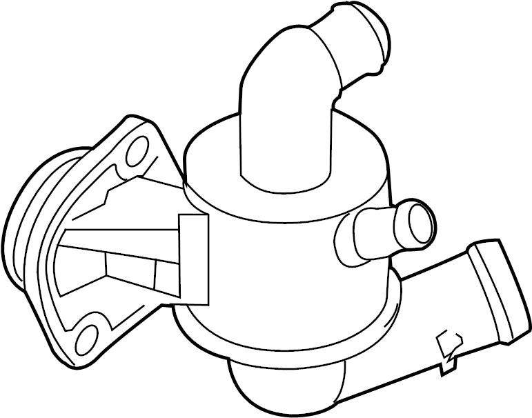 Volkswagen Jetta Engine Coolant Thermostat Kit. LITER