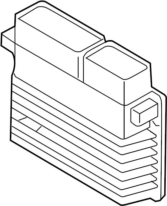 Volkswagen Jetta Engine Control Module. 1.8 LITER, w/SULEV