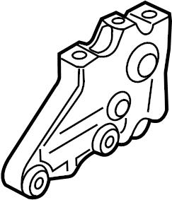 2010 Volkswagen Jetta 2.5L 5 cylinder M/T Bracket. Group