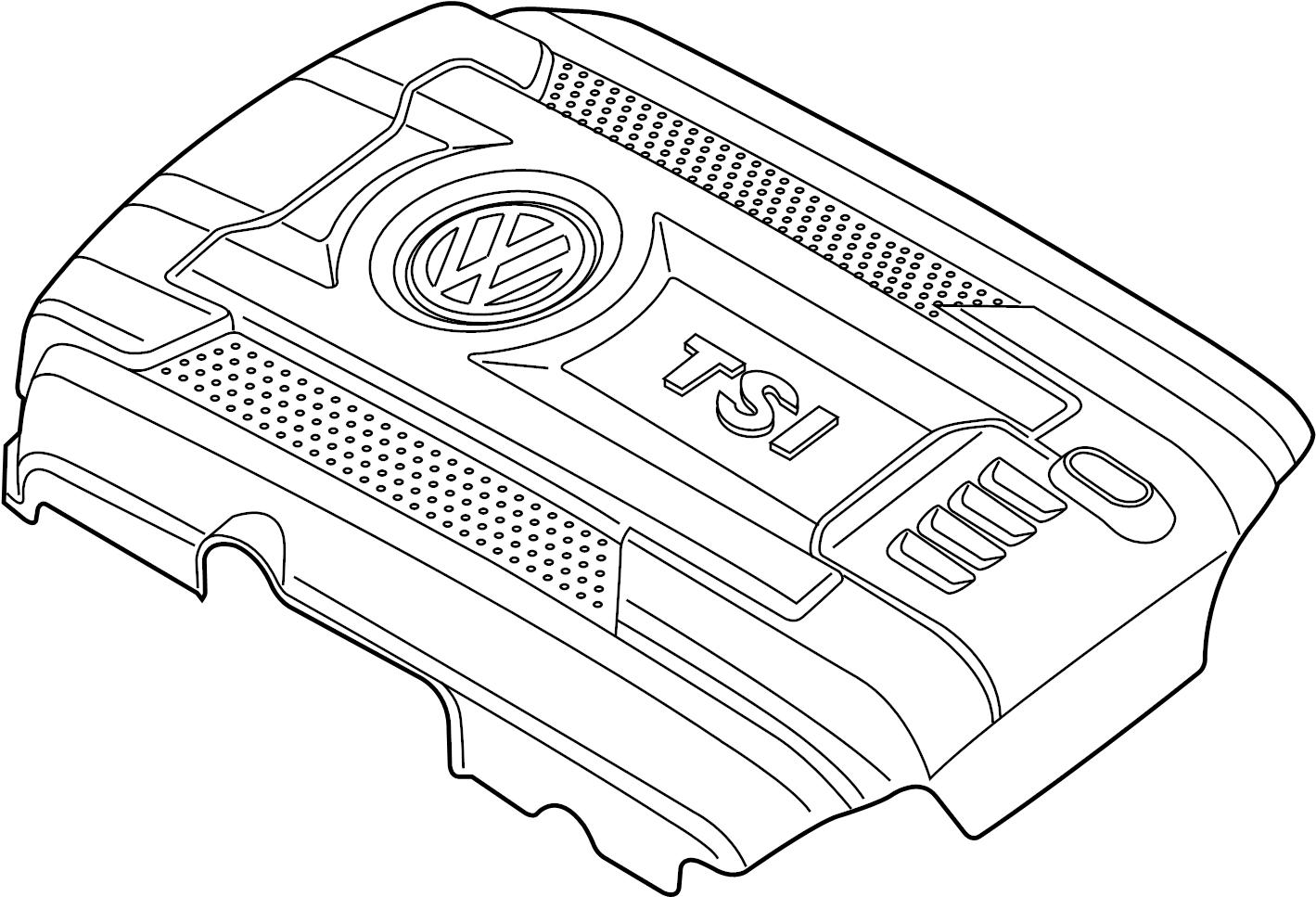 Volkswagen Passat Engine cover. 1.8 LITER. 2014-18. VIN