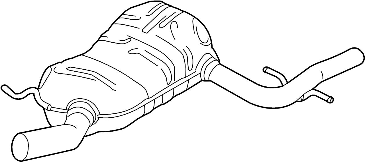 2015 Volkswagen Jetta GLI Exhaust. Resonator. MUFFLER. AND