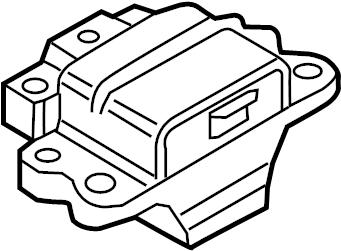 Volkswagen Jetta Manual Transmission Mount. TURBOCHARGER
