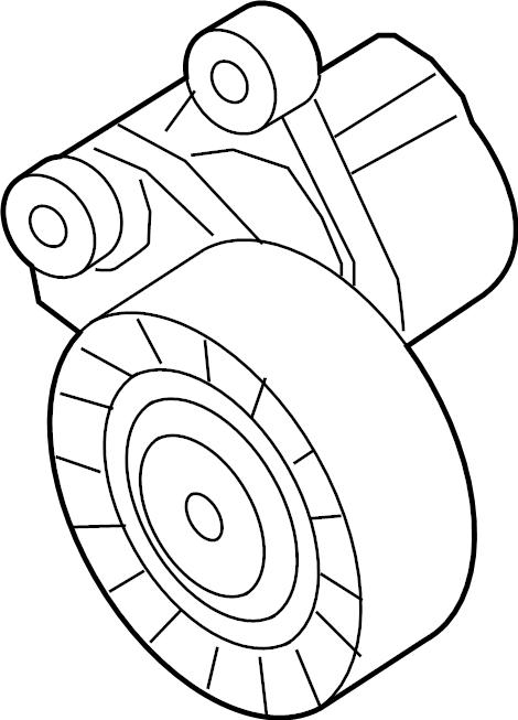 Volkswagen Jetta Accessory Drive Belt Tensioner Assembly