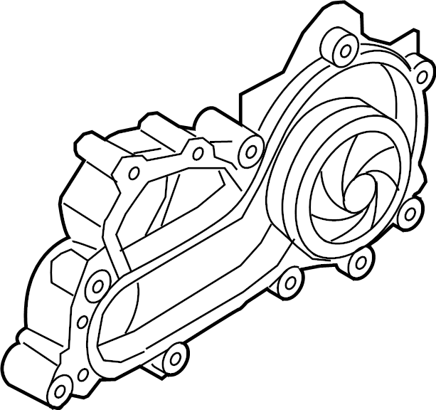 2019 Volkswagen Jetta Engine Water Pump Assembly. 1.4