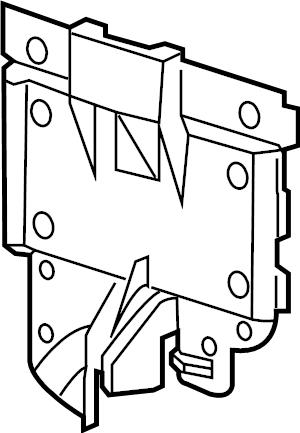 2017 Volkswagen Alltrack Fuse Box Cover. COMPARTMENT