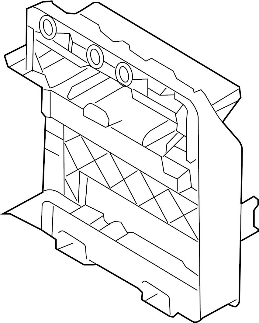 2007 Volkswagen Eos 2.0L A/T Bracket. Module. Control