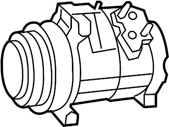 2011 Volkswagen Routan A/c compressor. Air conditioning (a